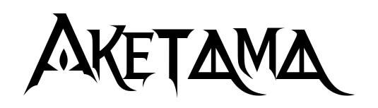 ベヨネッタ風フォントで「AKETAMA」