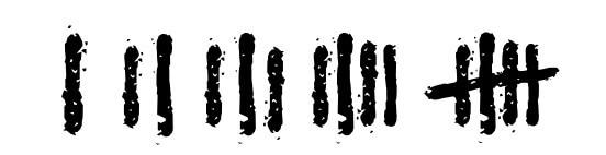 OUTLAST2の数字フォントサンプル