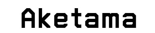 スーパーマリオメーカー風フォントで「AKETAMA」