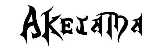 キングダムハーツ風フォントで「AKETAMA」