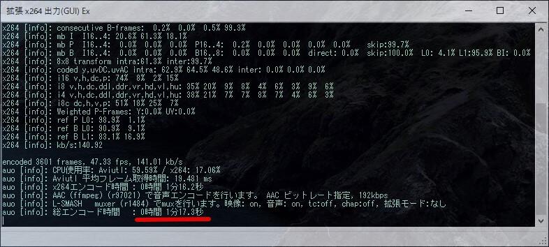 ソフトウェアエンコード