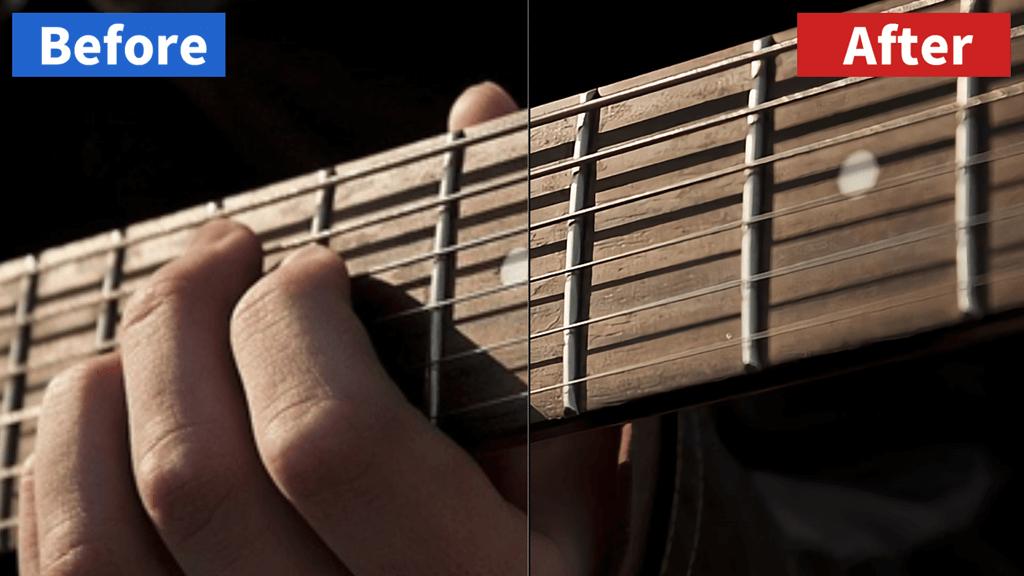 waifu2xの画像高画質化テスト(ギター)