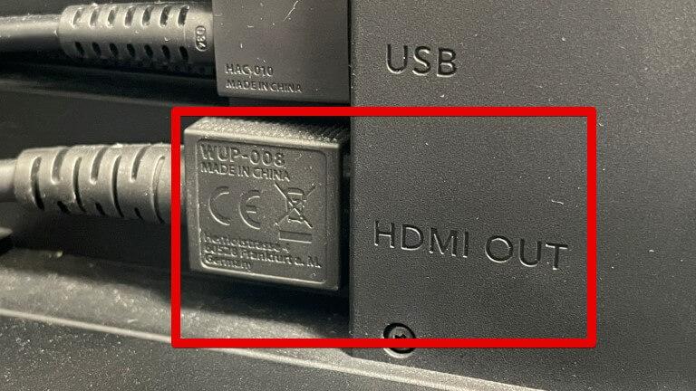 HDMIアウトにケーブルを接続
