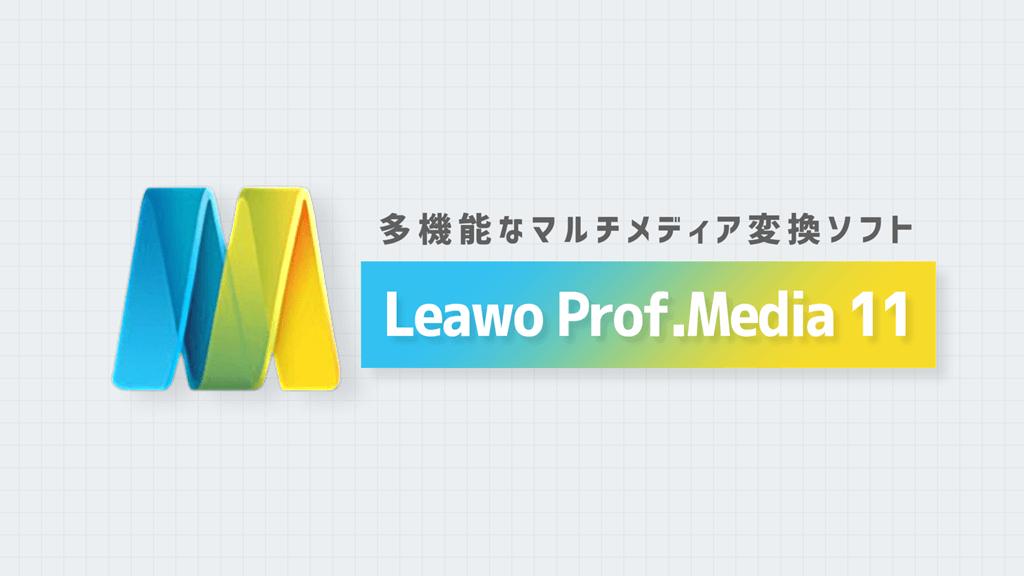 Leawo Prof.Media 11紹介