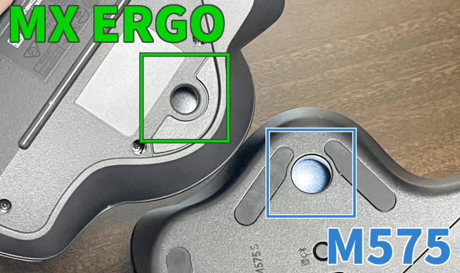 M575とMX ERGOの穴サイズ
