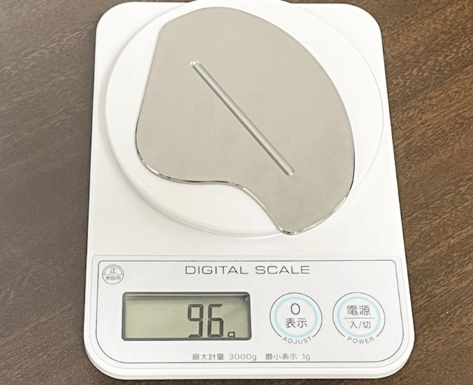 金属プレートの重量